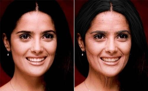 как состарить лицо в фотошопе