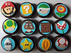 Super Mario Brothers Nintendo Cupcakes