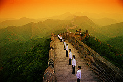 Choir on The Great Wall of China