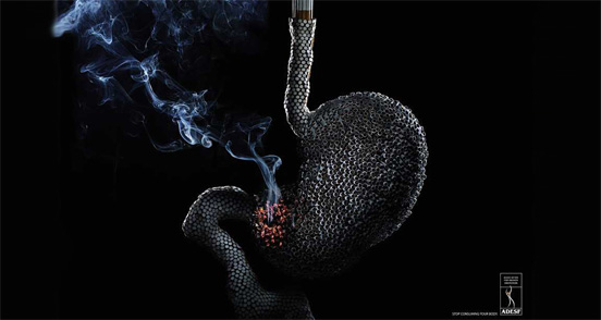 45 креативных иллюстраций посвященных борьбе с курением