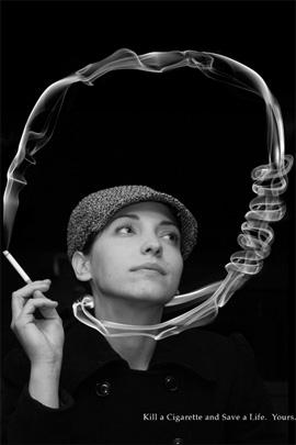 """foto  Фотопост: креативная социальная реклама """"Против курения"""""""