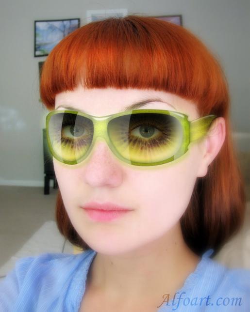 Crazy kiwi sunglasses photoshop tutorial
