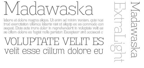 Madawaska ExtraLight - Free font