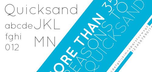 Quicksand - a free sans serif typeface