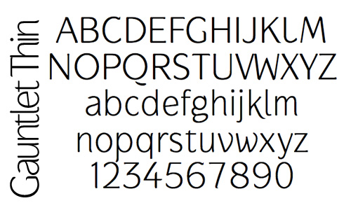 Gauntlet Thin Font