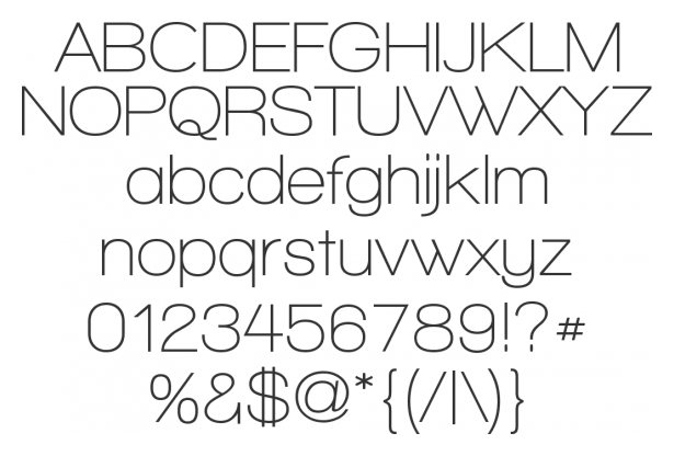 Walkway Typeface