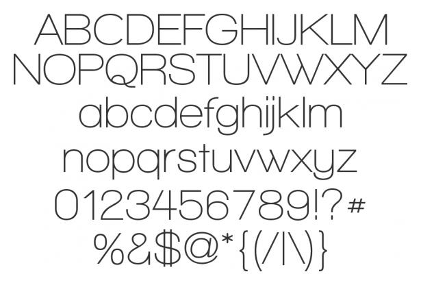 "grafika i dizayn  ""Тонкие"" шрифты"