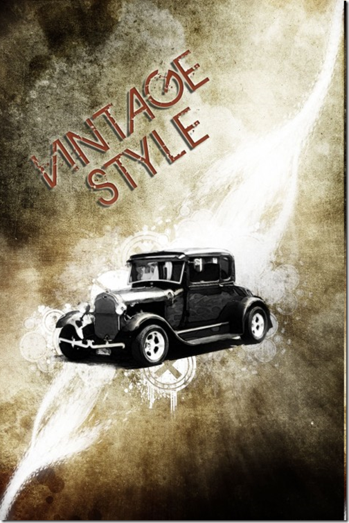 Design a Vintage Car Poster with Grunge Texture, Font and Brushset in Photoshop