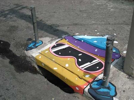 grafika i dizayn  Уличный дизайн: необычные водостоки Сан Пауло