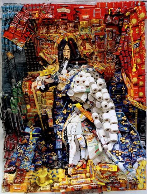 iskusstvo  Картины из мусора