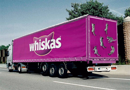 Whiskas Truck Advertisement