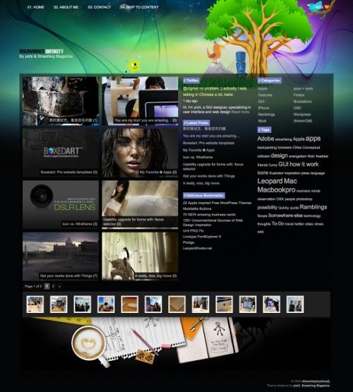 grafika i dizayn blogi  Темы WordPress для портфолио сайтов