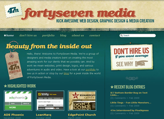 FortySeven Media - screen shot.