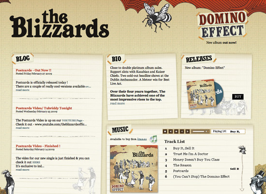The Blizzards - screen shot.