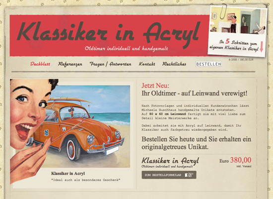 Klassiker in Acryl - screen shot.