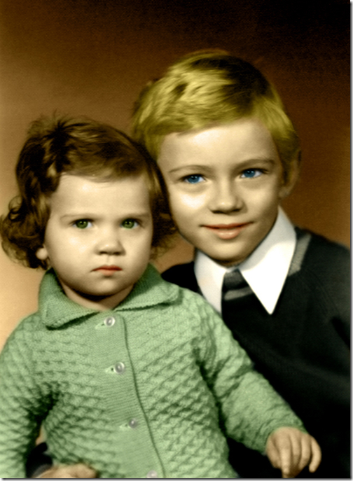 Coloring an old, black and white photo