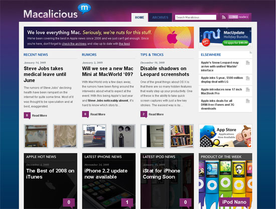 Macalicious - screen shot.