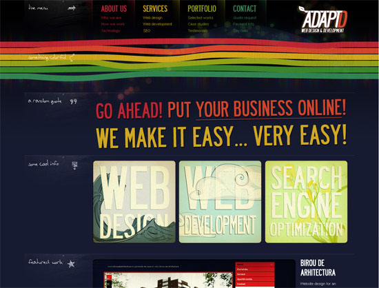 AdaptD.com - screen shot.
