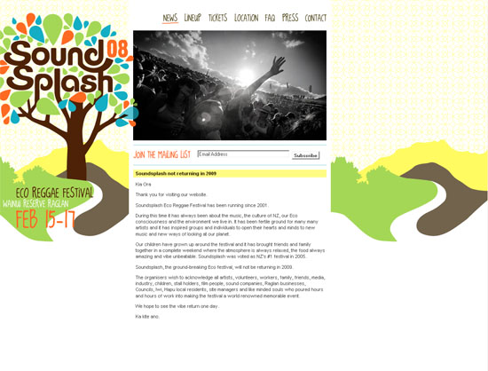 Soundsplash 08 Eco Reggae Festival - screen shot.