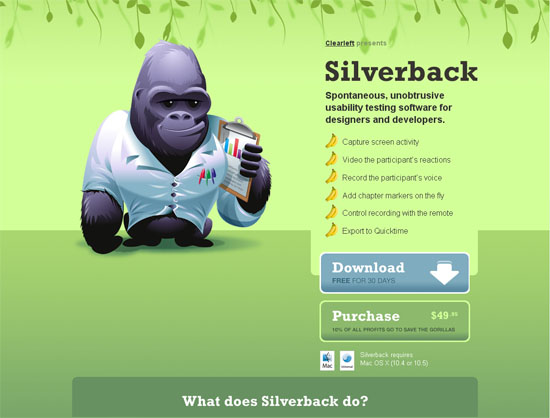 Silverback - screen shot.