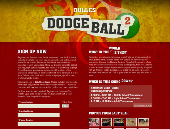 Dulles Dodgeball - screen shot.