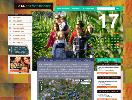Fall for Tennessee - screen shot.