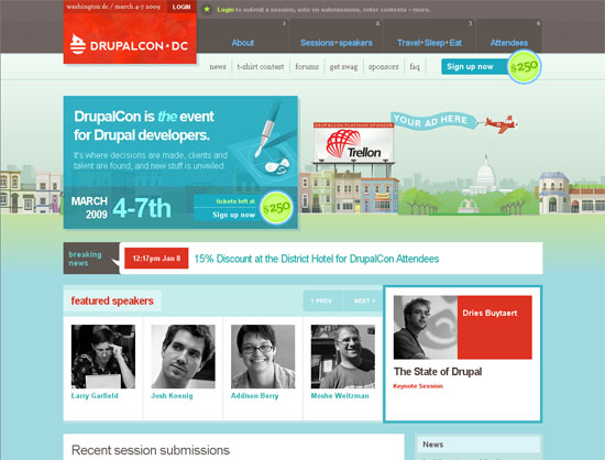 DrupalCon - screen shot.