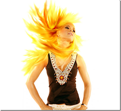 flaming hair tutorial
