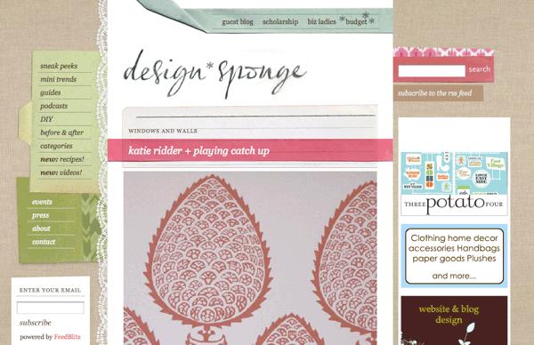 Design Sponge homepage