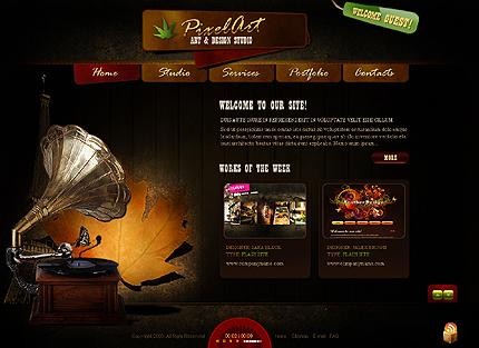 grafika i dizayn  Дизайны веб сайтов, выполненные в стилях ретро и винтаж: ч. 1