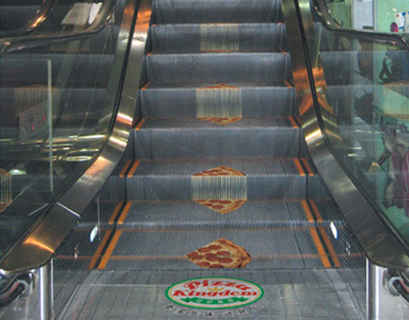 Pizza Escalator Advertisement