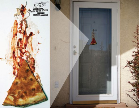 Punk Rock Pizza Door Ad
