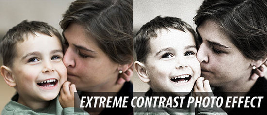 Extreme Contrast Photo Effect