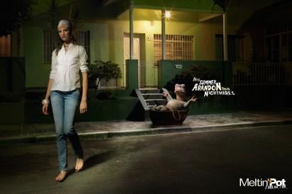grafika i dizayn  Реклама джинсовой одежды Meltin'pot