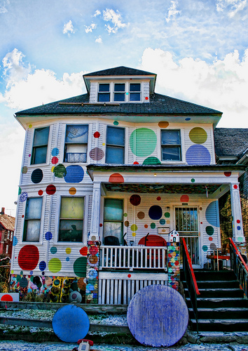 Heidelberg Project - The Dot House by Mike Darga.