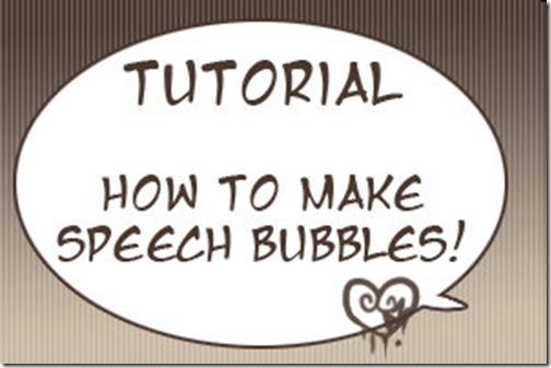Making Speech Bubbles