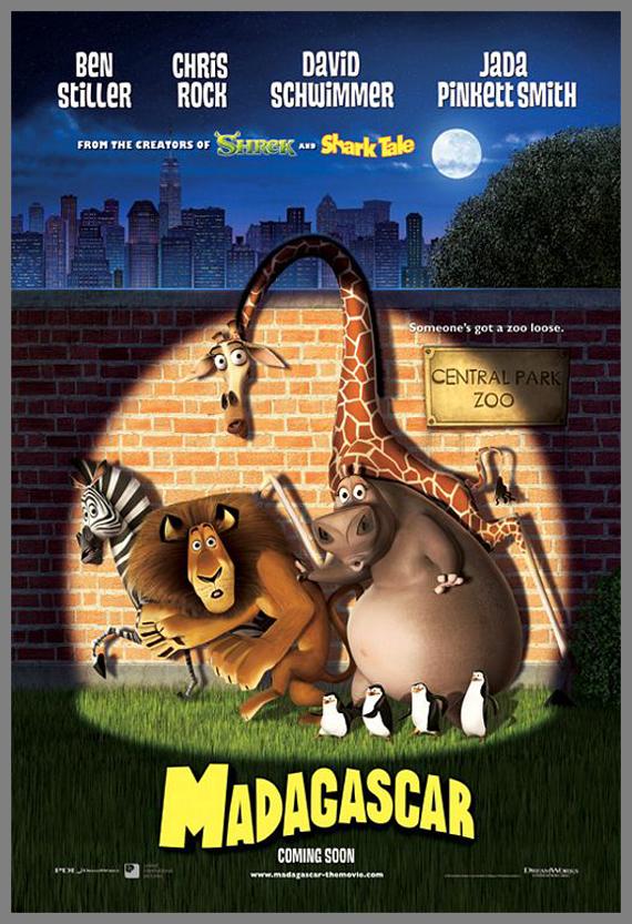 Children Movie Poster - Madagascar