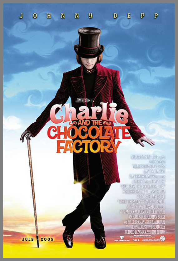 Children Movie Poster - Charlie and the Chocolate Factory