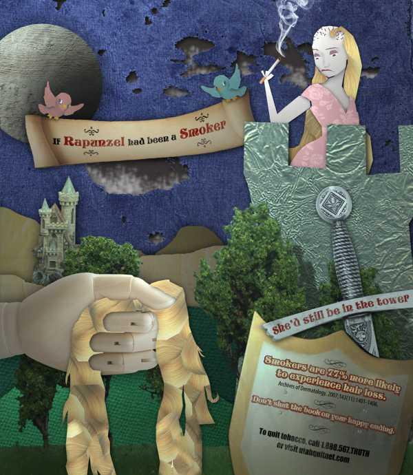 Utah Quit: Rapunzel, QUIT SMOKING, Utah Quit, Печатная реклама