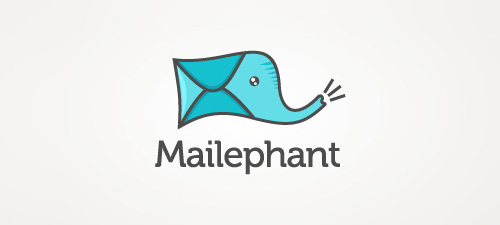 mailephant animal logo design
