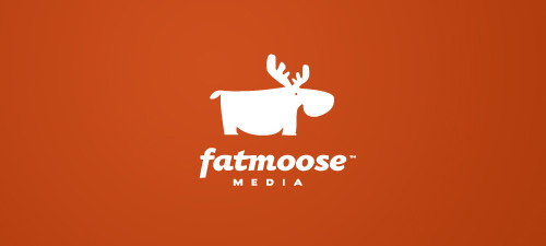 fat moose logo design