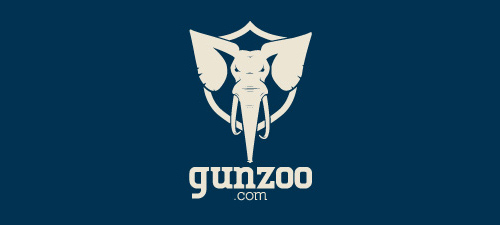 gun zoo animal logo design
