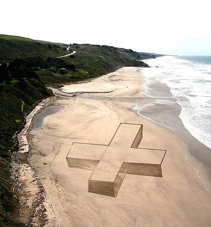 iskusstvo  Рисунки на песке от Джима Деневана
