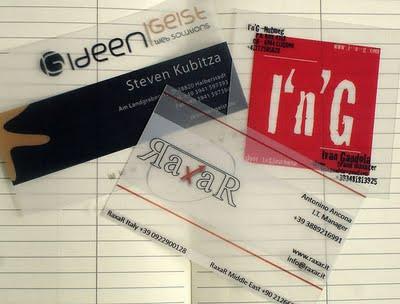 grafika i dizayn  Фотопост: прозрачные визитки