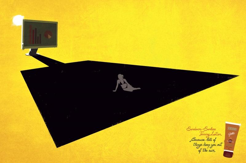 grafika i dizayn  Креативная реклама: кремы для загара