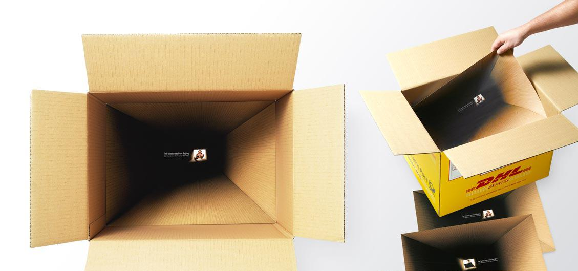 grafika i dizayn  Реклама службы экспресс доставки DHL