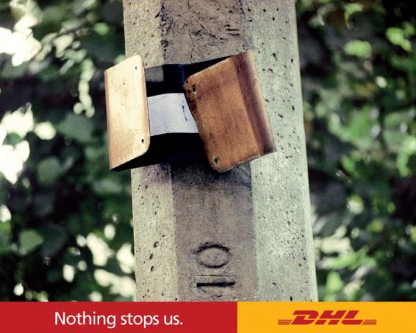 DHL Nothing Can Stop Us Signs, OGILVY & MATHER MEXICO, DHL, Печатная реклама