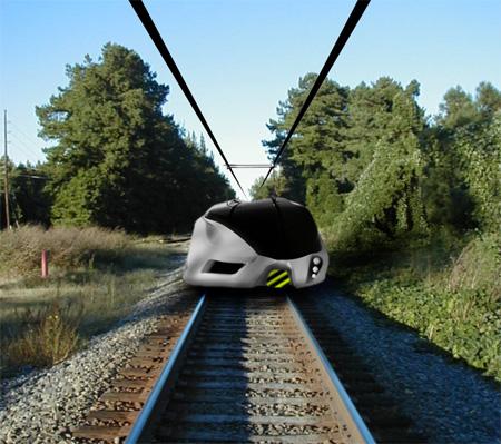 Концепция будущего поезд