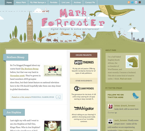 markforrester 11 Most Popular Blog Design Styles (With Examples)