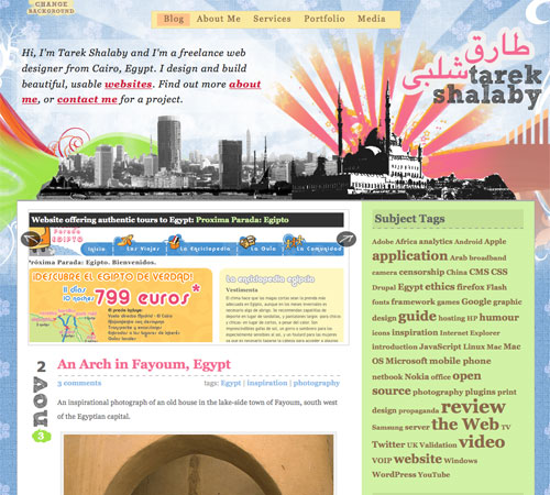 tarekshalaby 11 Most Popular Blog Design Styles (With Examples)